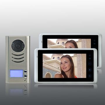 farb video t rsprechanlage mit bildspeicher f r 2. Black Bedroom Furniture Sets. Home Design Ideas