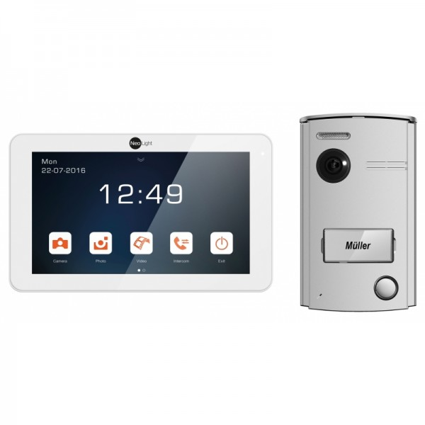 NeoLight Video-Türsprechanlage Porta 7 ✓ Touchscreen 7 Zoll Monitor ✓ HD-Display ✓ 2-Draht-Technik ✓
