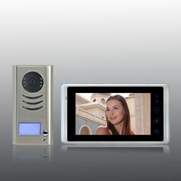 farb video t rsprechanlage in 2 draht technik 1 familienhaus video t rsprechanlagen. Black Bedroom Furniture Sets. Home Design Ideas