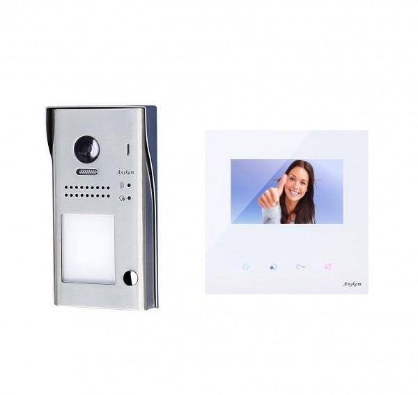 Farb-Video-Türsprechanlage in 2-Draht-Technik für 1-Familienhaus mit 178° Weitwinkelkamera