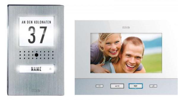 """VISTADOOR Video-Türsprechanlage 1-Familienhaus-Set mit 7"""" Innenstation, weiss"""