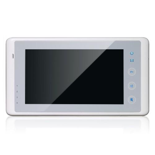 Farb-Video-Türsprechanlage in 2-Draht-Technik für 2-Familienhaus mit 178° Weitwinkelkamera