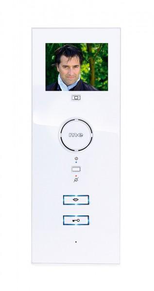 VISTADOOR Video-Türsprechanlage erweiterbare Innenstation in Hochglanz weiß